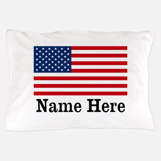 Personalized American Flag Pillow Case