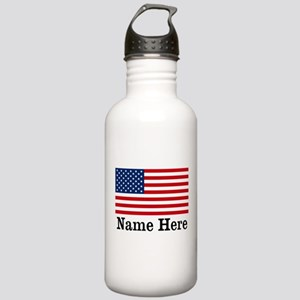Personalized American Flag Stainless Water Bottle