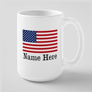 Personalized American Flag Large Mug