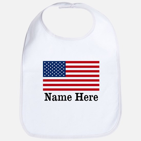Personalized American Flag Bib