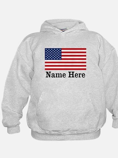 Personalized American Flag Hoodie