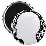 Black and white tribal head Magnet