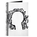Black and white tribal head Journal