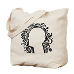 Black and white tribal head Tote Bag