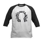 Black and white tribal head Kids Baseball Jersey