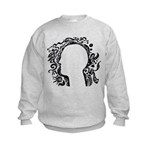 Black and white tribal head Kids Sweatshirt