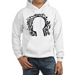 Black and white tribal head Hooded Sweatshirt