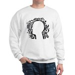 Black and white tribal head Sweatshirt