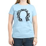 Black and white tribal head Women's Light T-Shirt