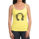 Black and white tribal head Jr. Spaghetti Tank