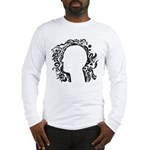 Black and white tribal head Long Sleeve T-Shirt