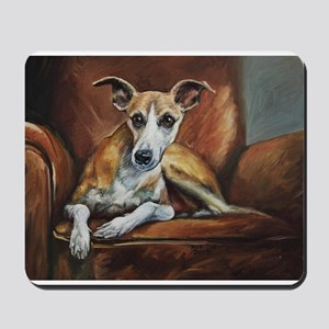 Whippet on Chair Mousepad