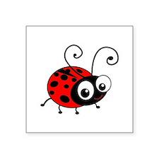 Cute Ladybug Square Sticker 3