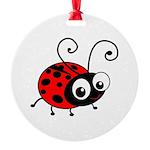Cute Ladybug Round Ornament