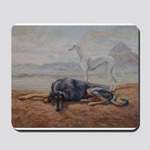 Saluki in the Desert Mousepad