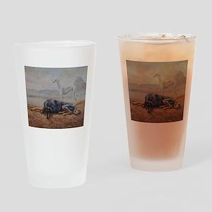 Saluki in the Desert Drinking Glass