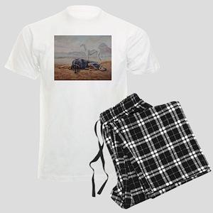 Saluki in the Desert Men's Light Pajamas