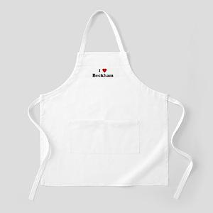 I Love Beckham BBQ Apron