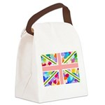 Heart filled Union Jack Flag Canvas Lunch Bag