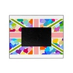 Heart filled Union Jack Flag Picture Frame