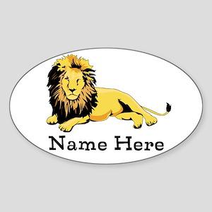 Personalized Lion Sticker (Oval)