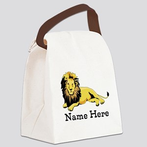 Personalized Lion Canvas Lunch Bag