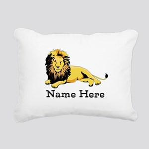 Personalized Lion Rectangular Canvas Pillow