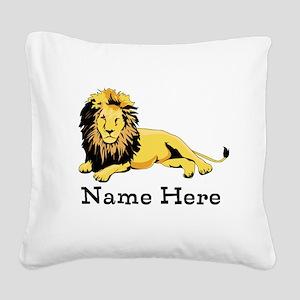 Personalized Lion Square Canvas Pillow