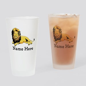 Personalized Lion Drinking Glass