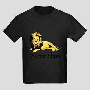 Personalized Lion Kids Dark T-Shirt