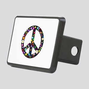 Hippie Flowery Peace Sign Rectangular Hitch Cover