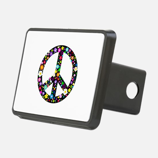 Hippie Flowery Peace Sign Hitch Cover