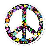 Hippie Round Car Magnets
