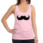 Black Mustache Racerback Tank Top