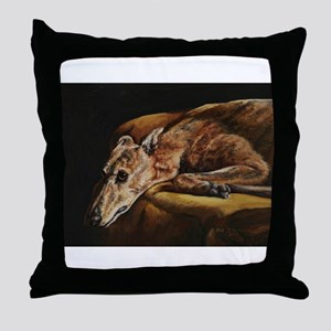Greyhound Resting Throw Pillow