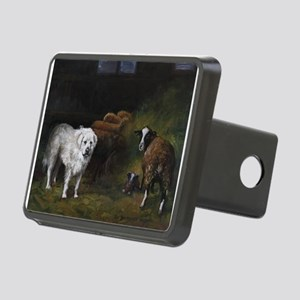 Great Pyrenees with Sheep Rectangular Hitch Cover