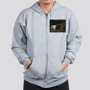Great Pyrenees with Sheep Zip Hoodie