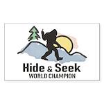 Bigfoot Hide & Seek Worl Sticker (Rectangle 10 pk)