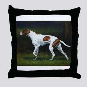 English Pointerin the Woods Throw Pillow
