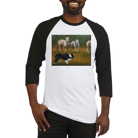 Border Collie and Sheep Baseball Jersey