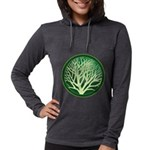 treecircle_green.png Womens Hooded Shirt