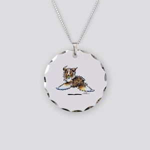 Aussie Lets Play Necklace Circle Charm