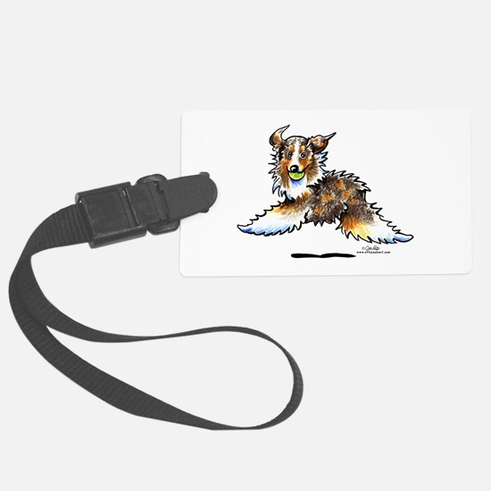 Aussie Lets Play Luggage Tag