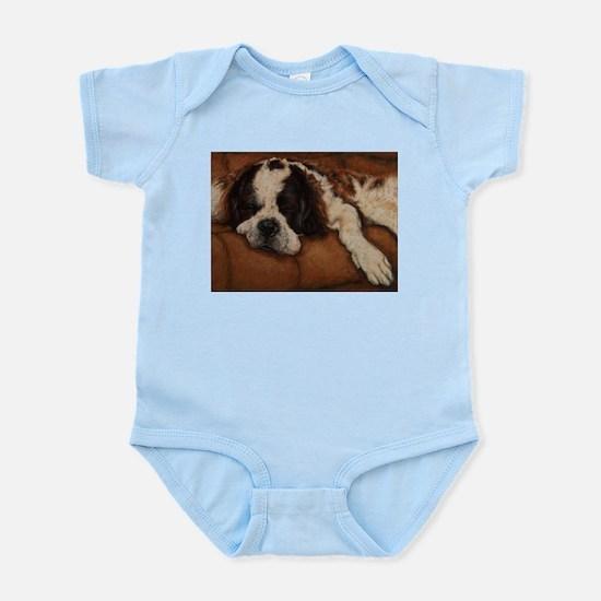 Saint Bernard Sleeping Infant Bodysuit