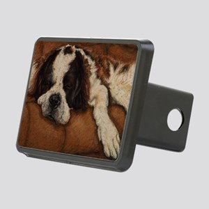 Saint Bernard Sleeping Rectangular Hitch Cover