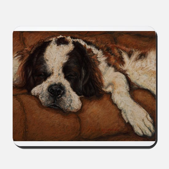 Saint Bernard Sleeping Mousepad