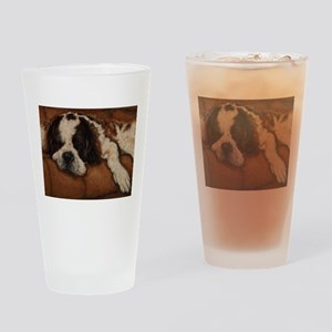 Saint Bernard Sleeping Drinking Glass