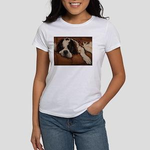 Saint Bernard Sleeping Women's T-Shirt