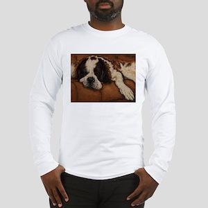 Saint Bernard Sleeping Long Sleeve T-Shirt