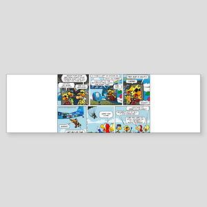 2L0102 - Chucks birthday jump Sticker (Bumper)